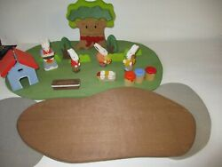 Woodland Fantasies Easter Wooden Toy Lot In Box