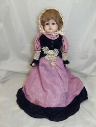 Vintage Bisque Stuffed Germany Doll 32quot; Tall