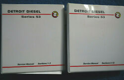 Detroit Diesel Series 53 Service Manuals 2 Binders Sections1-3 Sections4-15 Good