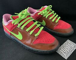 Vtg 2005 Nike Sb Id By You Dunk Low Strawberry Cough Custom 420 Skunk Sample 9.5