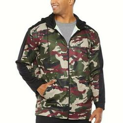 Foundry Menand039s Big And Tall Full Zip Long Sleeve Hoodie Black Camo Size Xlt New
