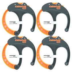 Pro 4 Pack 4x Large 3 Inch Diameter Adjustable Reusable Cable Tie For Cords