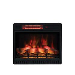 Classic Flame Fireplace Ventless Infrared Electric Safer Plug Firebox Black 23in