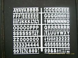 3/4 White Pepsi-cola Menu Board Or Message Sign Letters,numbers And Symbols