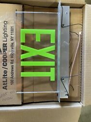 Cooper Lighting Clear Exit Sign W/ Green Letters Es7170gc