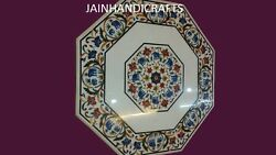 4'x4' Marble Coffee Dining Center Big Dinner Elephant Inlay Malchite Table Top