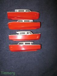 4 Lionel Athearn Postwar 6416 Red Boats For O And Ho Boat Loaders Et