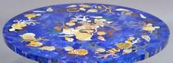 2and039 Marble Table Top With Stand Blue Malachite Dining Corner Coffee Random Inlay