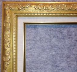 2.5 Gold Contemporary Wood Picture Custom Frame W Linen Liner Ornate 1133gl