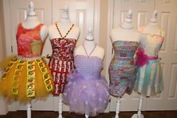 Fashion/party Dress Mannequin Decorations/5 Individual Candy Theme Mannequins