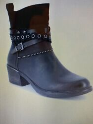 Remonte Black Size 38 Ankle Boots 2quot; heel Waterproof STYLISH for Fall Winter $72.00