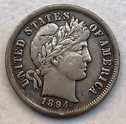 Usa Silver Dime 1894 - Better Date