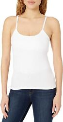 Hanes Womenand039s Stretch Cotton Cami With Built-in Shelf Bra