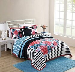 Vcny Home| Cottage Cove Bedding Collection| Nikki Reversible Floral Comforter Se