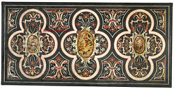 5and039x2.5and039 Marble Dining Coffee Table Top Lapis Inlay Marquetry Home Decor A30
