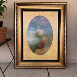 Rina Sutzkever Andldquotranquilityandrdquo Framed Rare Limited Edition Art Piece