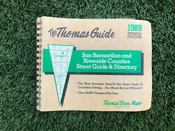 Thomas Guide 1989 Updated Ed. San Bern/riverside County St Guide And Directory
