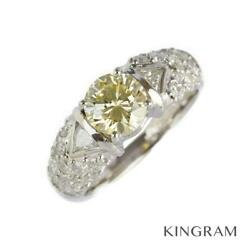 Pt900 Diamond 1.14ct 0.85ct U 52 Cleaned Ring From Japan