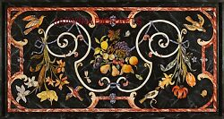 Room 5and039x2.5and039 Marble Dining Coffee Center Corner Mosaic Inlay Table Top Malachite