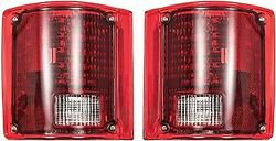 Oer Sequential Led Tail Lamp Assy. Set W/o Chrome Trim 1973-1991 Chevy/gmc Truck