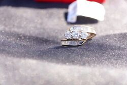 1 - 1/2 Carat Total Weight- Diamond Bypass Ring In 14k Yellow Gold Size 7