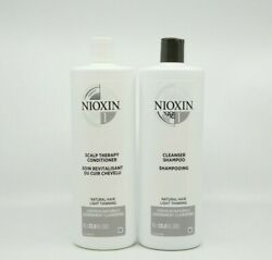 Nioxin System1 Cleanser And Scalp Therapy Conditioner Duo 33.8 Oz