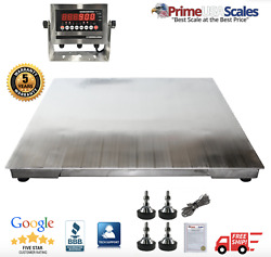 Op-916ss Ntep 3and039 X 3and039 Floor Scale Stainless Steel Washdown 5000 Lb Capacity