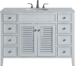 Bathroom Vanity Sink Contemporary Single Antique White Brushed Steel Brass