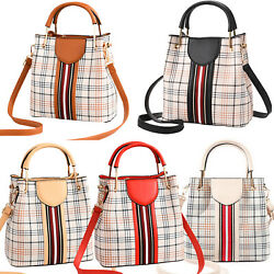 Small Crossbody Bags Purse Shoulder Handbag Women Top Handle Satchel Grid Tote $18.89
