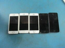 Lot Of 5 - Apple Iphone 5 / 5s - A1533 / A1429 - Untested