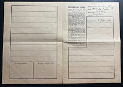 1941 Germany Auschwitz Concentration Camp Letter Cover Kz Hand Drawn