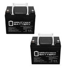 Mighty Max 12v 35ah Int Battery For Craftsman 25780 Lawn Tractor Mower - 2 Pack