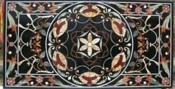 4and039x2and039 Marble Coffee Table Top Geometric Design Home Inlay Multi Mosaic