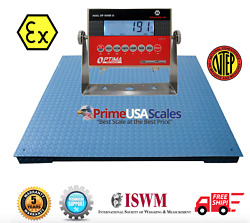 Op-900b-ex Ntep 5andprime X 5andprime Certified Explosion Proof Floor Scale 10000 Lb Capacity