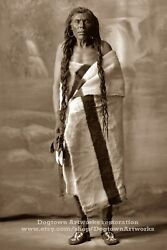 Restored Vintage Native American Indian Photo Baby Jack, Cree Tribe 1st Nations