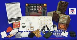 Advanced Premium Lincoln Cent Collector Starter Kit W/coins And Microscope