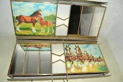 Rare Vintage 1950s Budweiser Lighted Clydesdale Metal/glass Beer Signs