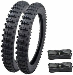 Front 70/100-17 Rear 90/100-14 Tire Inner Tube For Dirt Pit Trail Bike Off Road