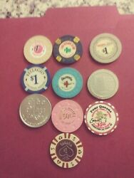 Las Vegas Casino Chip Collection Assorted