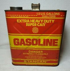 Vintage Stancan 1 1/2 Gallon Gas Can Gasoline Stan Can
