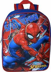 Spiderman 15#x27;#x27; School Backpack Boys Blue Red $19.09
