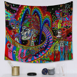 Bohemian Tapestry Mandala Indian Psychedelic Colorful Wall Hanging 150x130cm New