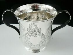 Antique Silver 2 Handled Porringer Cup London 1759 William Shaw And William Priest