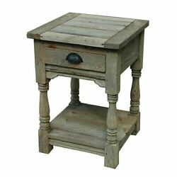 Farmhouse End Side Accent Occasional Sofa Table