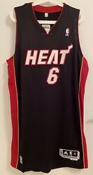 Lebron James Xl+2 Miami Heat Adidas Rev30 Authentic Jersey Meshed Number Procut