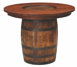Custom Us Hand Made   Whiskey Barrel Pub Table   Made To Order