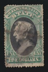 Us O69 5 State Department Official Used F-vf Appr Scv 13000