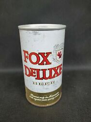 Vintage Fox Deluxe Beer Steel Can Cold Spring Mn S/s Bottom Open