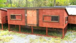 9and039 Large Wooden Chicken Coop With Nest Box. Heavy-duty Metal Roof. 110x48x48