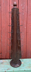 Antique 1910 Dunnigan Paper Bag Holder General Country Store Wood And Wire Rack